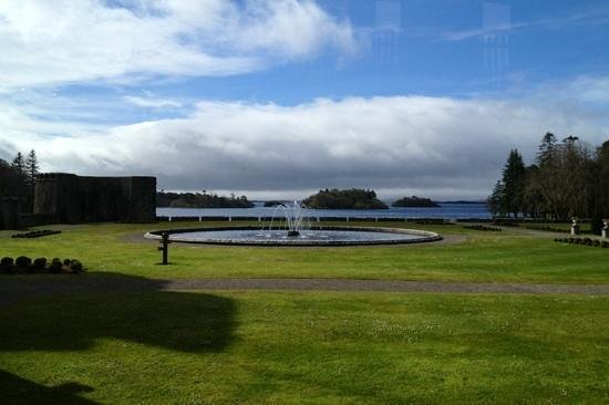 view of lough corrib from ashford castle