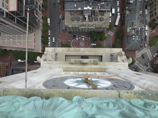 Marriott's Custom House: Looking down at face of clock