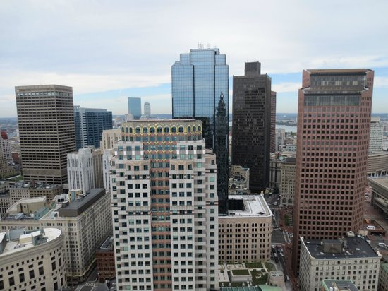 Marriott's Custom House: View of Financial district and back bay from observation deck
