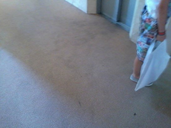 Marconfort Griego Hotel: dirty and fag burnt carpets