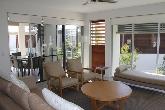 RACV Noosa Resort: A 2 bedroom apartment living room