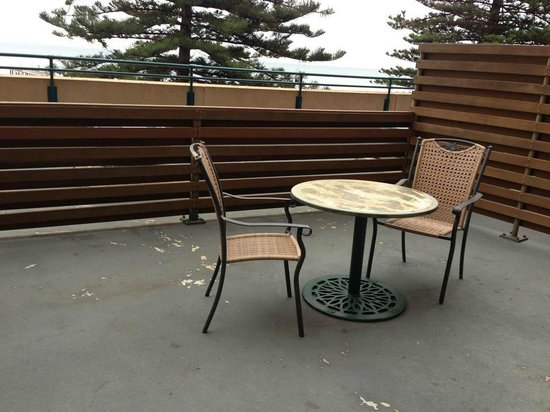"Glenelg, Australia: The rather unattractive view of ""the terrace"" from our room."