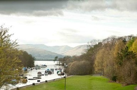 Balloch, UK: View from a room at the Innkeeper's Lodge Loch Lomond