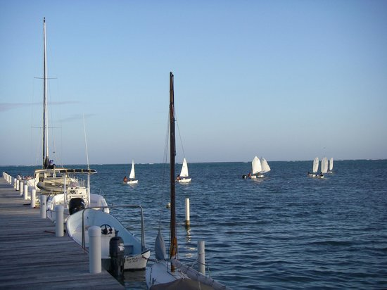Caribbean Villas Hotel: The sailboats from the school
