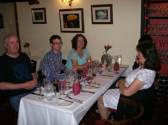 Teignmouth, UK: 70th Birthday meal with family.