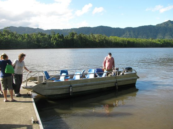 Daintree, Australia: Small boat means its quiet and less crowded