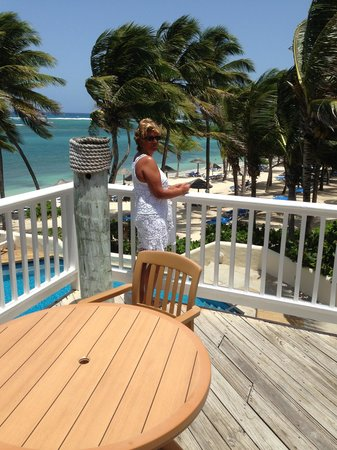 St. James's Club: overlooking Cocos ( the Windy) Beach