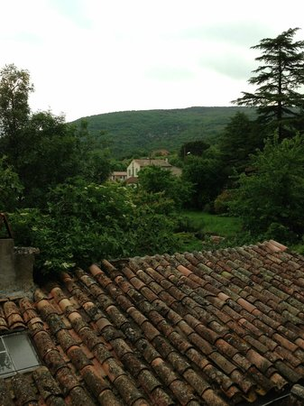 Alet les Bains, Frankreich: View from Room 3 bathroom