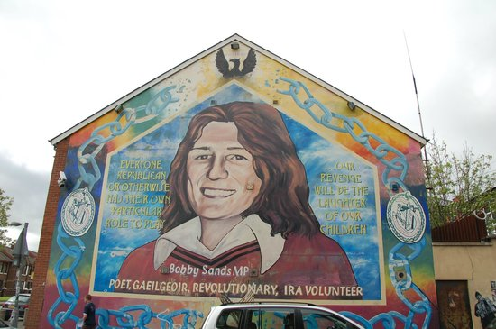 Bobby sands mural for Belfast mural tours