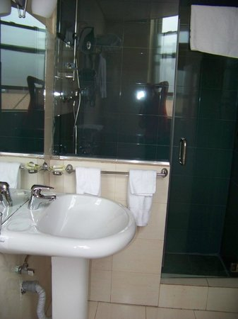 Addis Regency Hotel: tile and glass shower