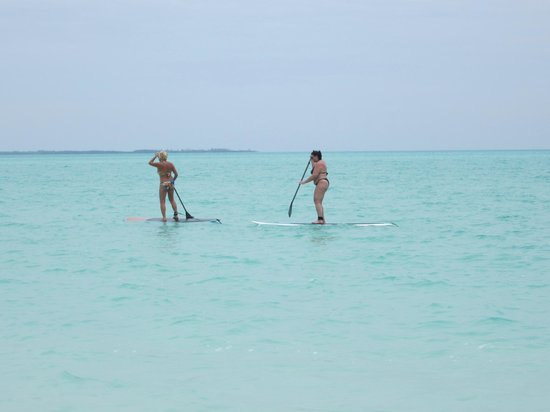 Treasure Cay Beach, Marina & Golf Resort: Paddleboarding in paradise