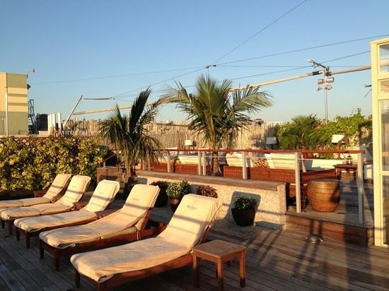 The Betsy Hotel, South Beach: the rooftop terrace at the Betsy hotel