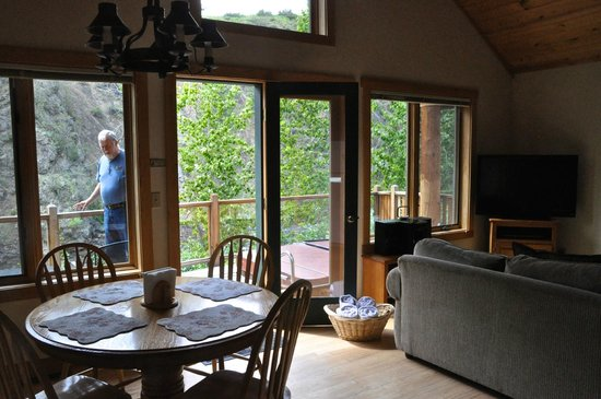 River's Edge Resort: looking out from the kitchen