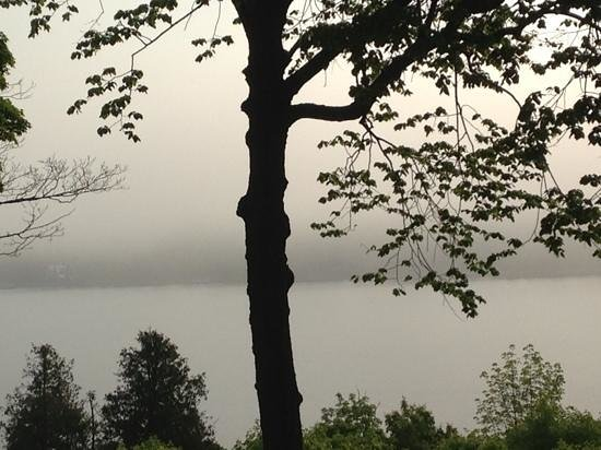 Country House Resort: Early morning fog... from our balcony