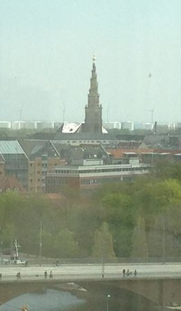 Copenhagen Marriott Hotel: we could the famous Spiral Steppal church from our Suite