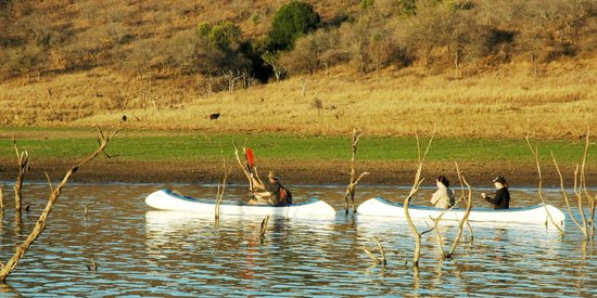 White Elephant Safari Lodge: Canoeing on Pongola River
