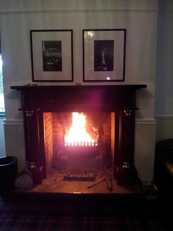 Fritton, UK: nice roaring fireplace