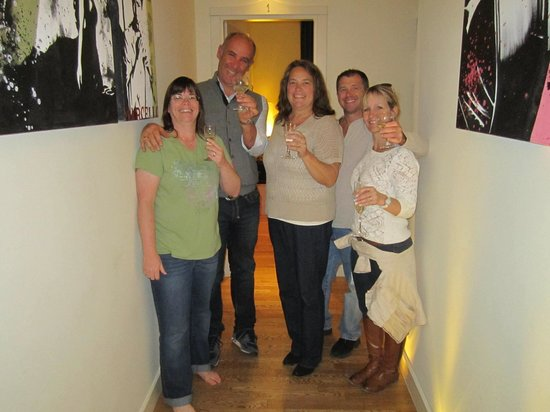 Rome Armony Suites: Luca (second from left) sharing a toast with us!
