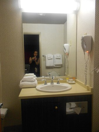Bally's Atlantic City: Small bathroom