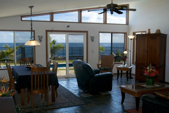 Keaau, HI: Panoramic ocean views from every room at Hale Mar