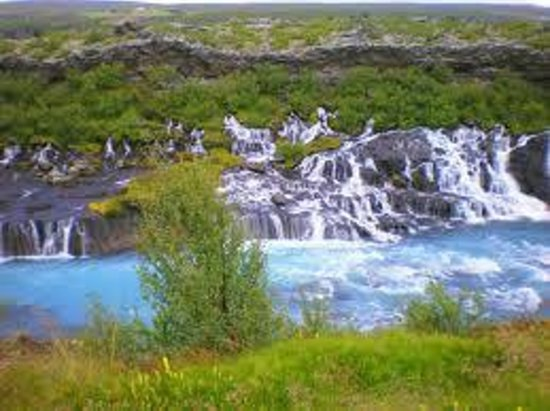 Borgarnes, Iceland: Hraunfossar and Barnafoss are few miles away