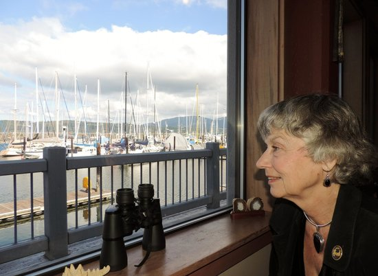Sequim, WA: View of the marina from our wondow