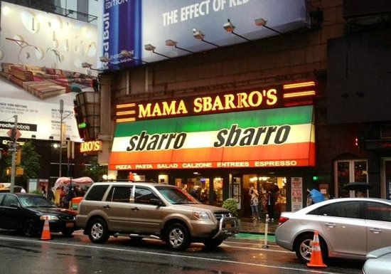 Good Quality Mall Food Review Of Sbarro New York City NY TripAdvisor