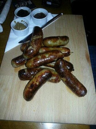 Newton Abbot, UK : sausage platter, meat lovers feast!