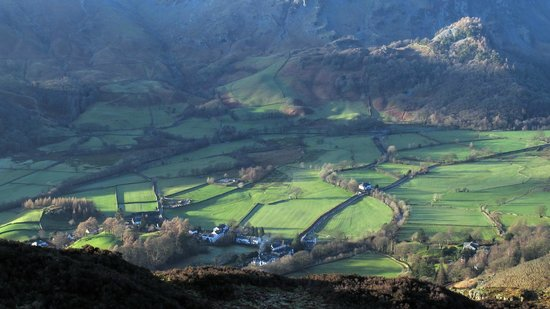 Borrowdale, UK: Rosthwaite from SE