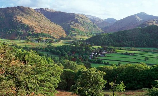 Borrowdale, UK: Rosthwaite from NE