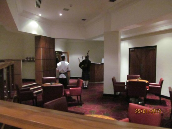Irvine, UK: lobby the best thing was a piper for burns dinner