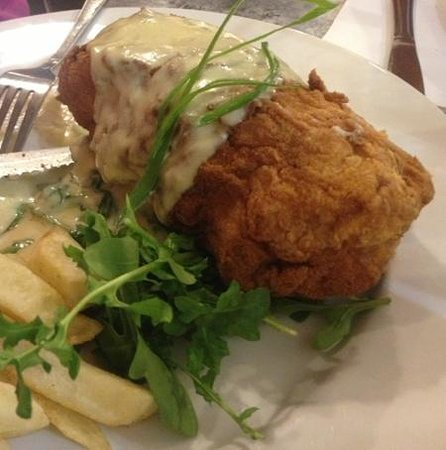Deloraine, Australia: 'The Bush' Sunday Chicken Kiev Special, June 2013, Delish!