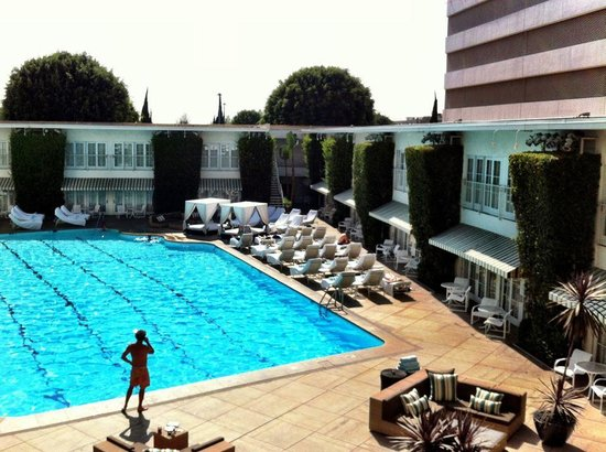 The Beverly Hilton: pool area