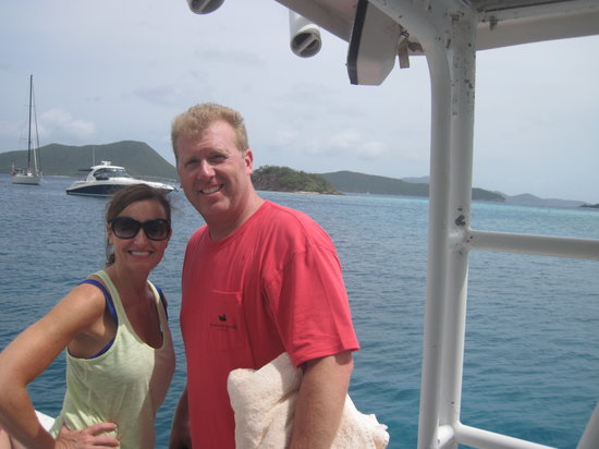 Cruz Bay, St. John: Matt and Kim
