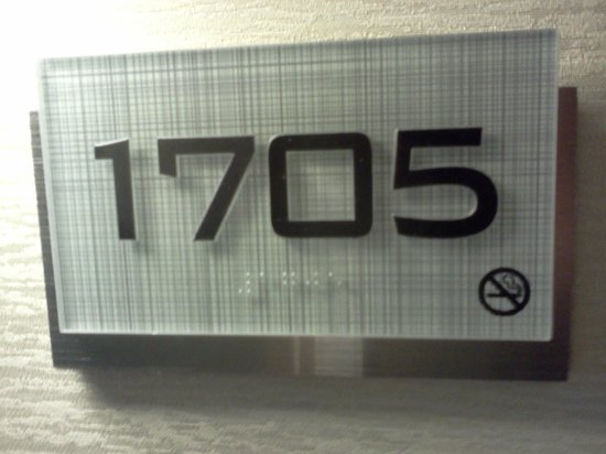 Embassy Suites by Hilton Denver - Downtown / Convention Center: Nicely designed room number plaque