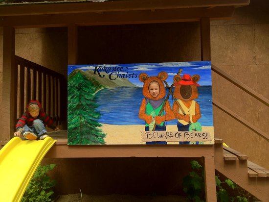 Crawford Bay, Canada: The slide and Kokanee Bears