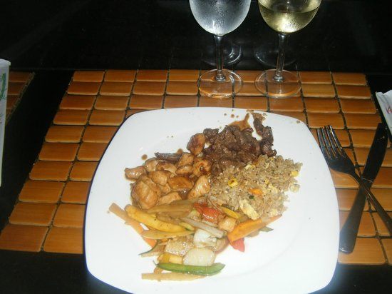 Grand Bahia Principe Jamaica: japanese dinner. sooo good