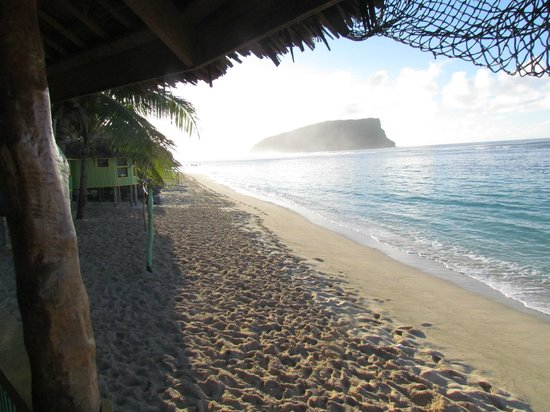 Taufua Beach Fales: View from main dining fale
