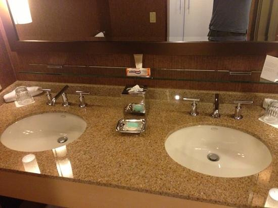 The Hyatt Lodge at McDonald's Campus: sink in room
