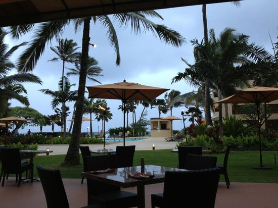 Courtyard by Marriott Kauai at Coconut Beach: from the Rstaurant