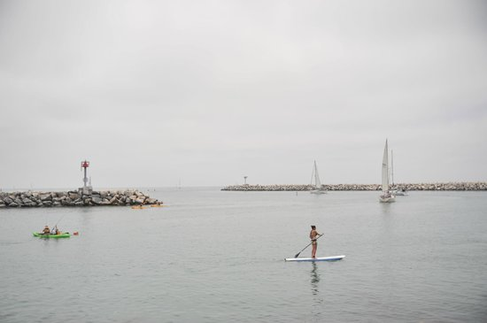 Dana Point, Californië: harbor entrance