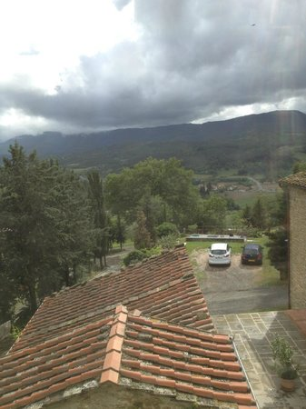 Agriturismo Corzano: Our view from the bedroom in Casa Poli
