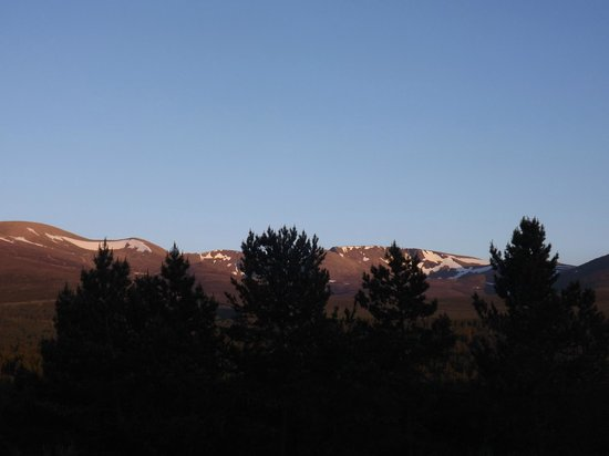 Aviemore, UK: Cairngorm mountain view from my room
