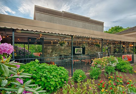 Holiday Inn Asheville Biltmore East: Big Owl's Outdoor Patio - Cool Dining/Bar