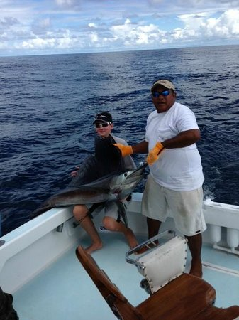 Quepos, Kosta Rika: William McCarthy fishing on Blue Pearl II - June 16th, 2013