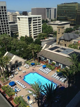 The Fairmont San Jose: View from my room over the pool