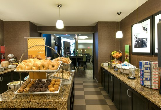 Hampton Inn & Suites Boston Crosstown Center: Free breakfast is included with every Boston suite accommodations.