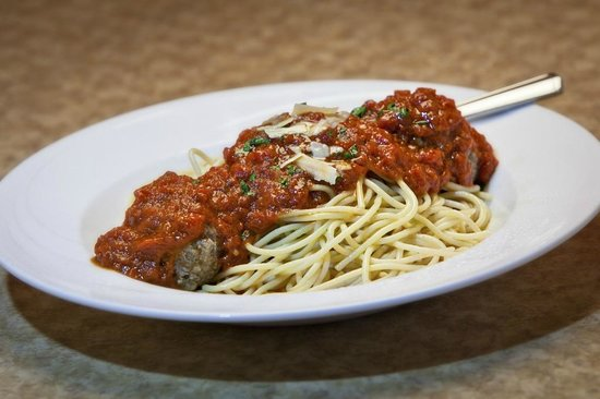 Harlingen, Техас: Spaghetti Marinara With Home-made Meatballs