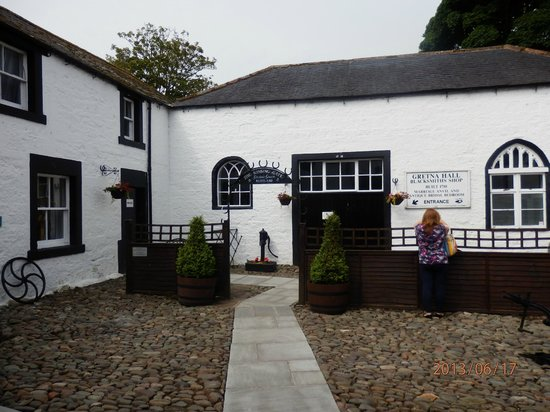 Gretna Green, UK: Courtyard to wedding area