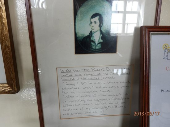 Gretna Green, UK: Rabbie Burns